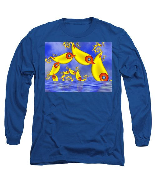 Long Sleeve T-Shirt featuring the digital art Jumping Fantasy Animals by Gabiw Art