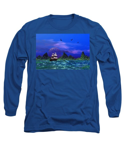 Flying Dutchman Long Sleeve T-Shirt by Mark Blauhoefer