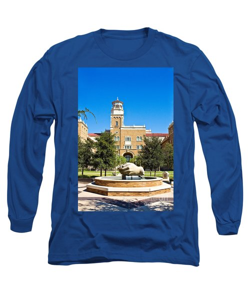 Long Sleeve T-Shirt featuring the photograph Fountain Of Knowledge by Mae Wertz