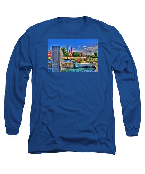 Fountain On Ray Long Sleeve T-Shirt