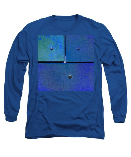 Four Five Six - Colorful Rust - Blue Long Sleeve T-Shirt by Menega Sabidussi