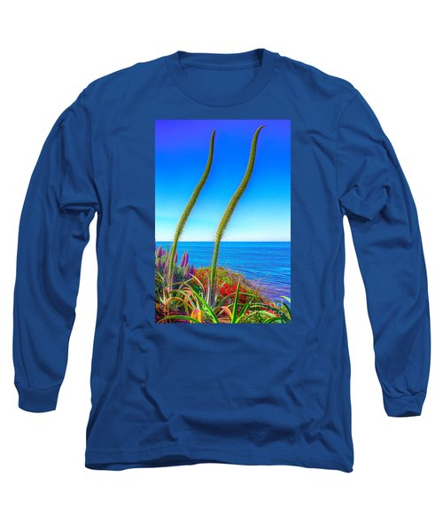 Long Sleeve T-Shirt featuring the photograph Foxtails On The Pacific by Jim Carrell