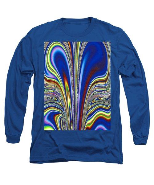 Long Sleeve T-Shirt featuring the digital art Fractal Flame by Joan Hartenstein