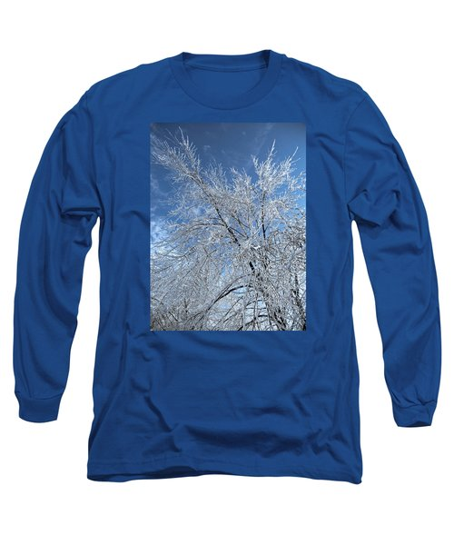 Long Sleeve T-Shirt featuring the photograph Freezing Rain ... by Juergen Weiss