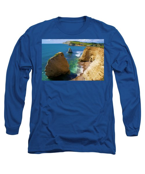 Freshwater Bay Long Sleeve T-Shirt by Ron Harpham