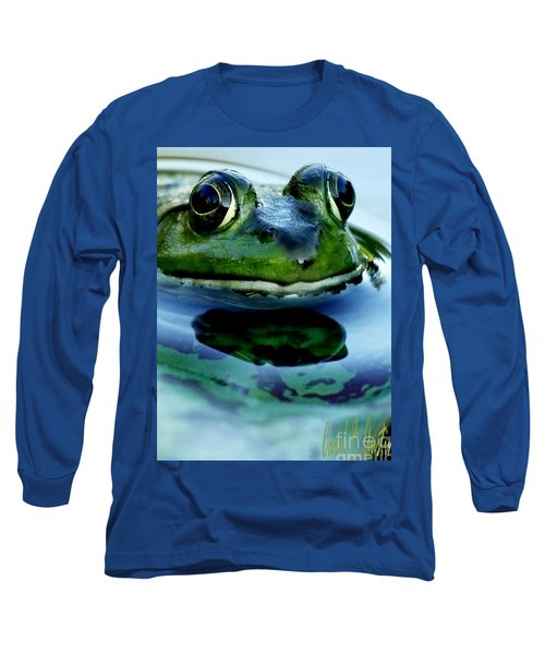 Green Frog I Only Have Eyes For You Long Sleeve T-Shirt by Carol F Austin