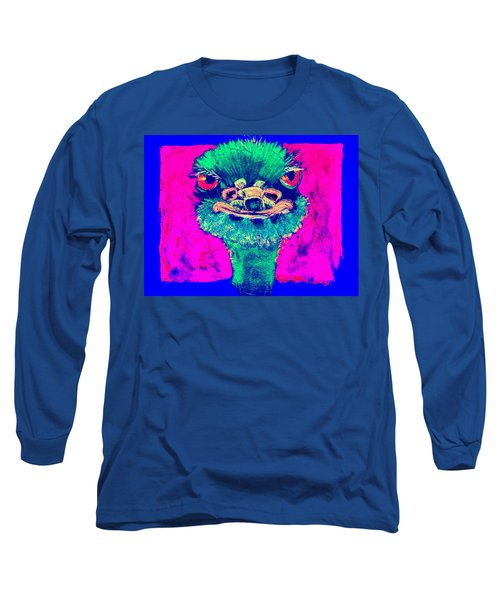 Funky Ostrich Cool Dude Art Prints Long Sleeve T-Shirt