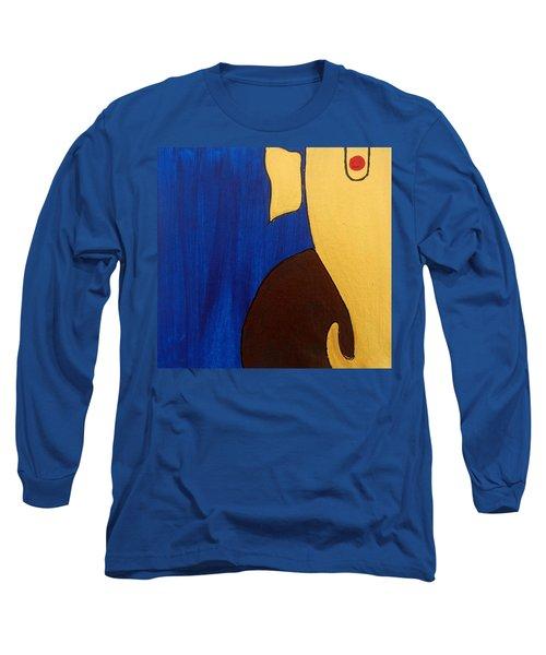 5 Ganesh Gajananaya Long Sleeve T-Shirt by Kruti Shah