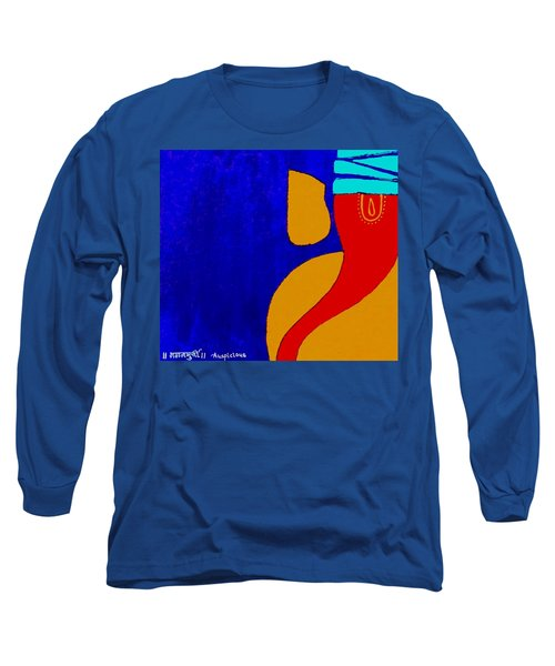 4 Ganesh Mangalmurti Long Sleeve T-Shirt by Kruti Shah