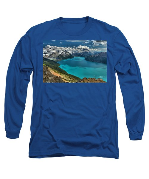Garibaldi Lake Blues Greens And Mountains Long Sleeve T-Shirt