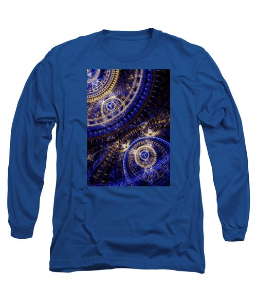 Gears Of Time Long Sleeve T-Shirt by Martin Capek
