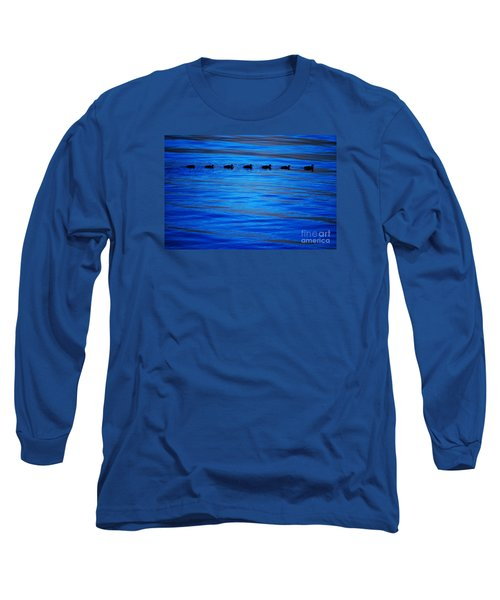 Getting Your Ducks In A Row Long Sleeve T-Shirt by Cynthia Lagoudakis