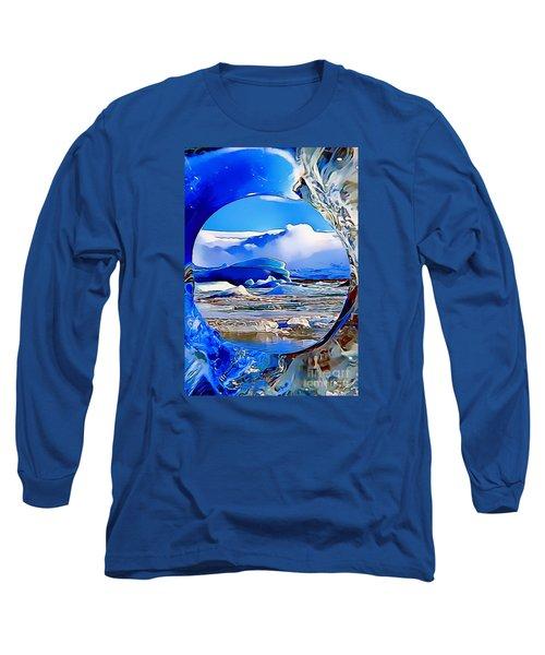 Glacier Long Sleeve T-Shirt by Catherine Lott