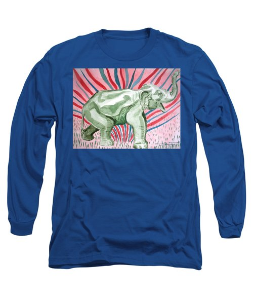 Gleeful Elephant Long Sleeve T-Shirt
