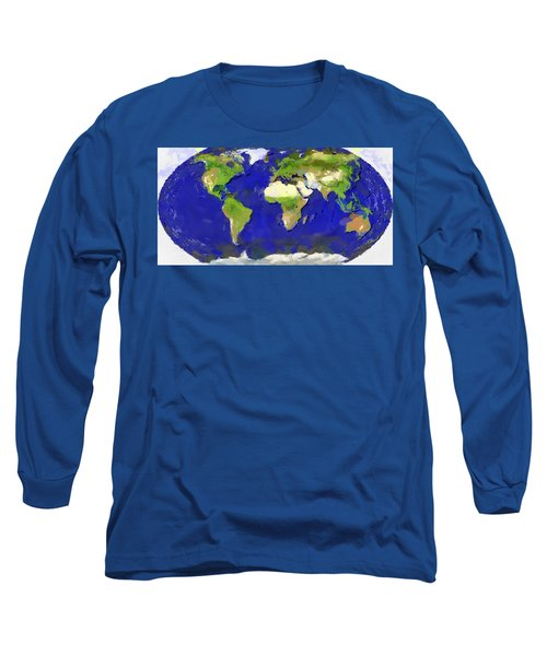 Global Map Painting Long Sleeve T-Shirt