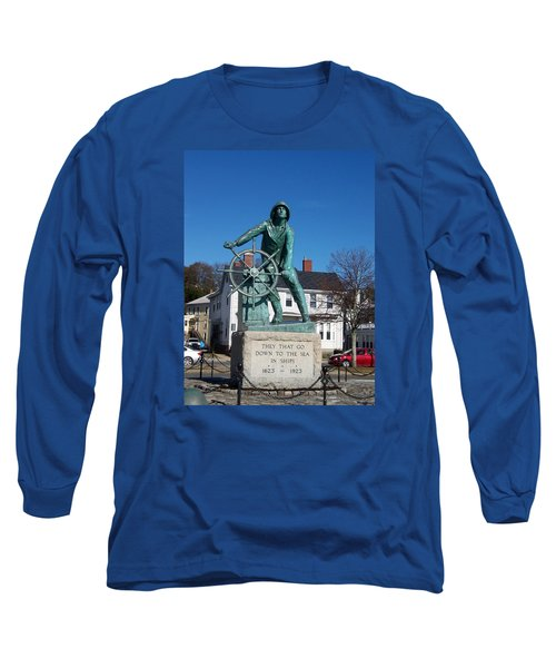 Gloucester Fisherman Long Sleeve T-Shirt by Catherine Gagne