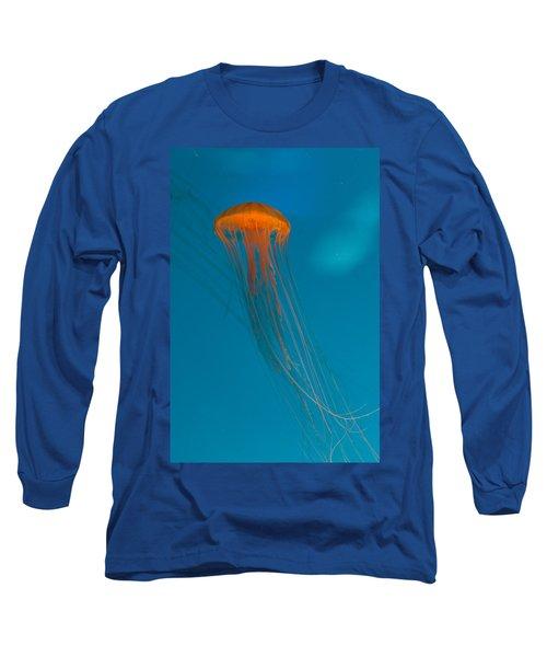 Glowing Orange Sea Nettle Long Sleeve T-Shirt