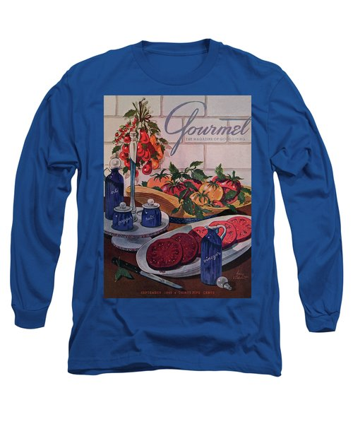 Gourmet Cover Of Tomatoes And Seasoning Long Sleeve T-Shirt