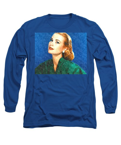 Grace Kelly Painting Long Sleeve T-Shirt by Gianfranco Weiss