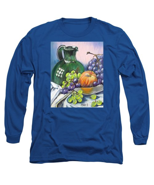 Grapes Galore Long Sleeve T-Shirt by Marilyn  McNish