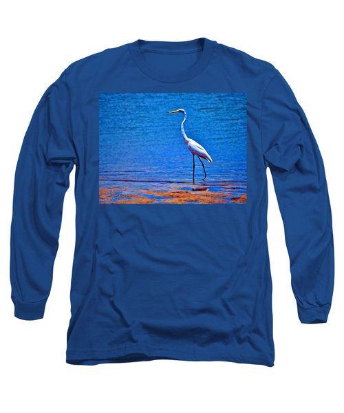 Great Egret Long Sleeve T-Shirt by Ludwig Keck