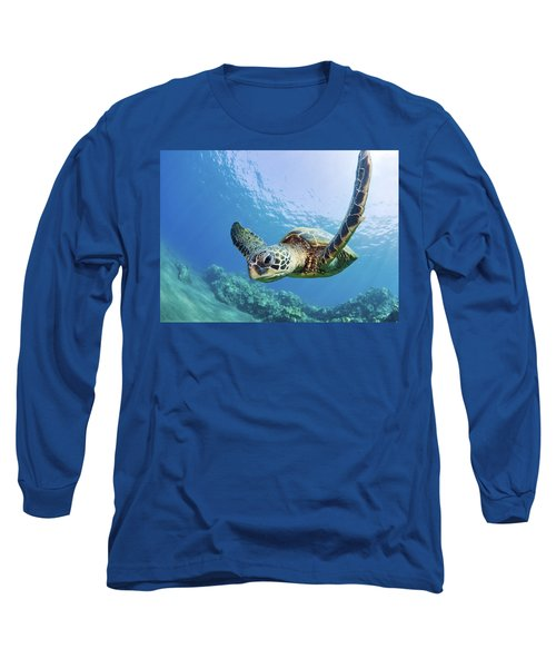 Green Sea Turtle - Maui Long Sleeve T-Shirt by M Swiet Productions