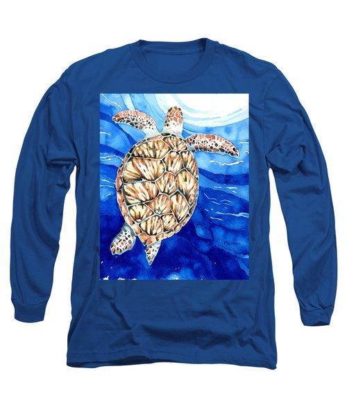 Green Sea Turtle Surfacing Long Sleeve T-Shirt