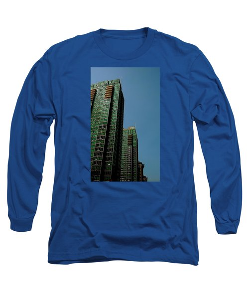 Green Vancouver Towers Long Sleeve T-Shirt