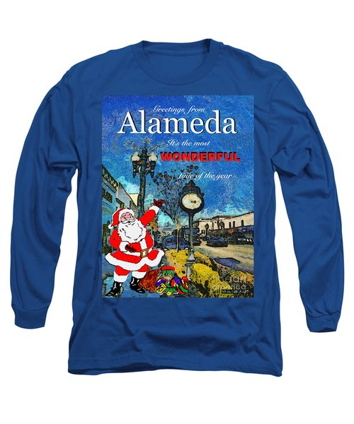 Long Sleeve T-Shirt featuring the photograph Alameda Christmas Greeting by Linda Weinstock
