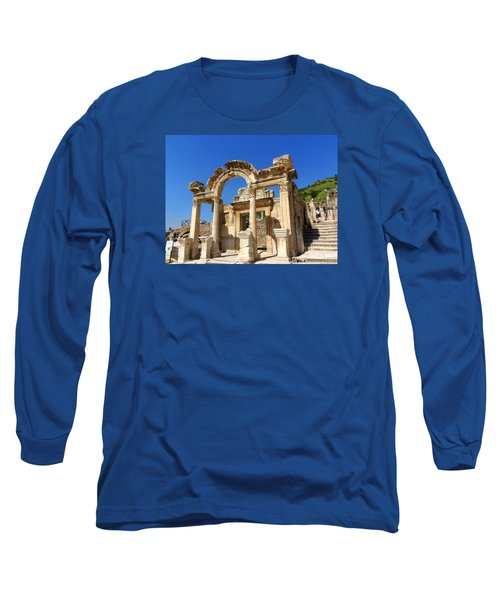 Long Sleeve T-Shirt featuring the photograph Hadrian Temple Ephesus by Lou Ann Bagnall
