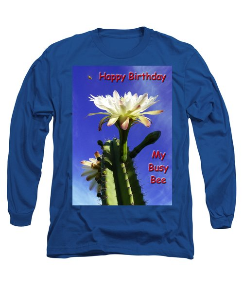 Happy Birthday Card And Print 15 Long Sleeve T-Shirt
