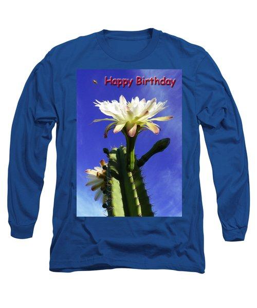 Happy Birthday Card And Print 16 Long Sleeve T-Shirt