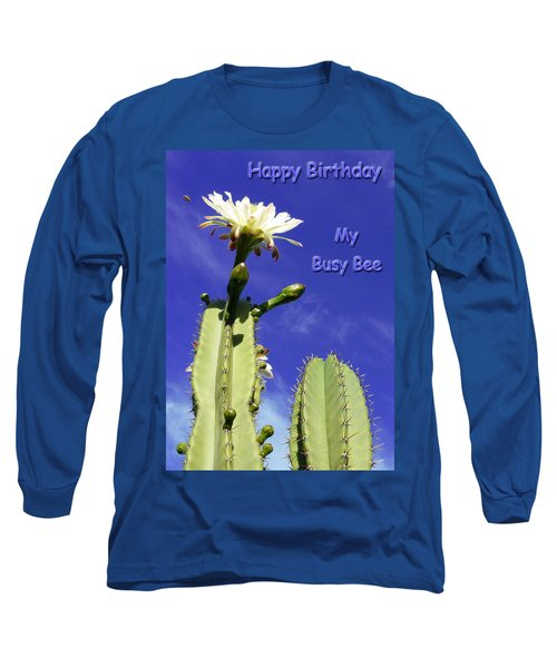 Happy Birthday Card And Print 20 Long Sleeve T-Shirt