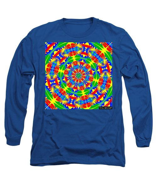 Long Sleeve T-Shirt featuring the photograph Happy Hands Mandala by Linda Weinstock