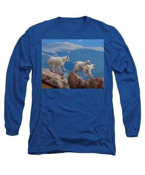 Happy Landing Long Sleeve T-Shirt by Jim Garrison