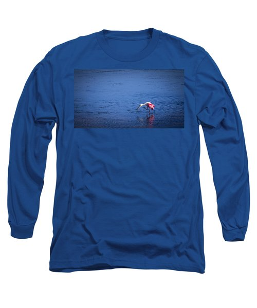 Happy Spoonbill Long Sleeve T-Shirt by Marvin Spates