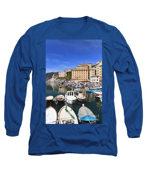 harbor in Camogli - Italy Long Sleeve T-Shirt