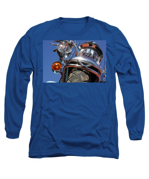 Long Sleeve T-Shirt featuring the photograph Harley Close Up by Shoal Hollingsworth