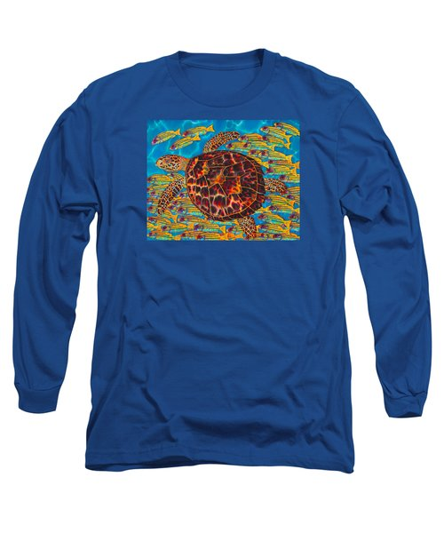 Hawksbill Sea  Turtle And  Snappers Long Sleeve T-Shirt
