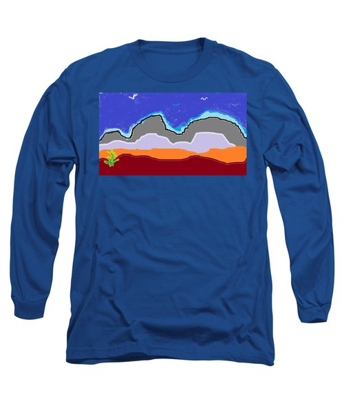 Hills In Paint Long Sleeve T-Shirt