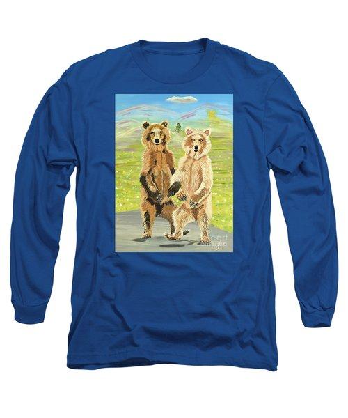 Hoedown On The Tundra Long Sleeve T-Shirt by Phyllis Kaltenbach