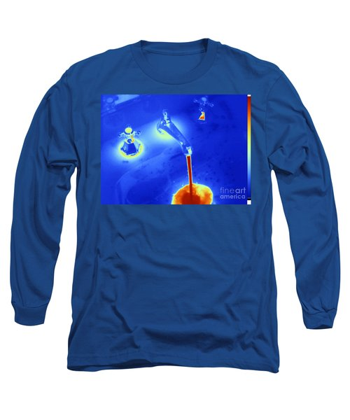 Hot Water From A Faucet, Thermogram Long Sleeve T-Shirt
