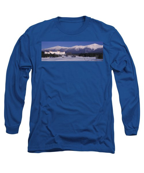 Hotel Near Snow Covered Mountains, Mt Long Sleeve T-Shirt