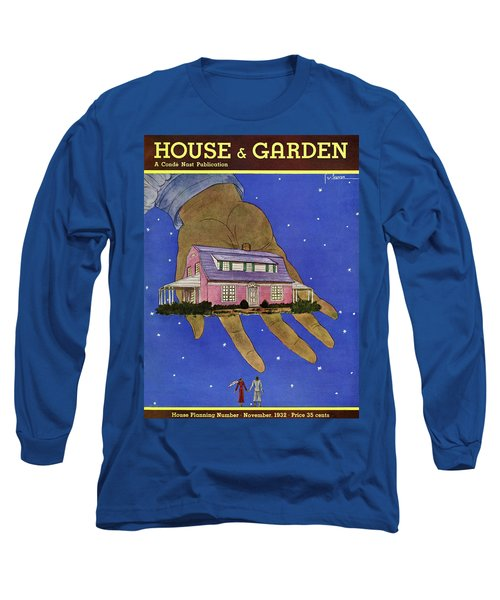 House & Garden Cover Illustration Of A Giant Hand Long Sleeve T-Shirt