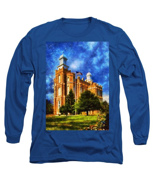 Long Sleeve T-Shirt featuring the digital art House Of Learning by Greg Collins