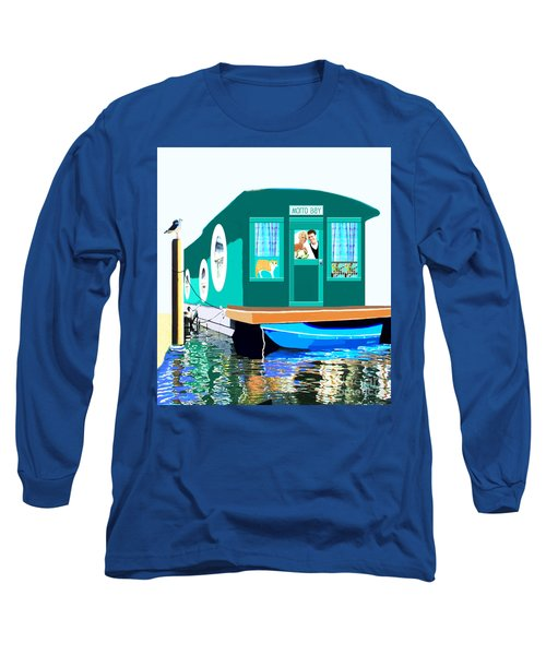 Long Sleeve T-Shirt featuring the painting Houseboat by Marian Cates