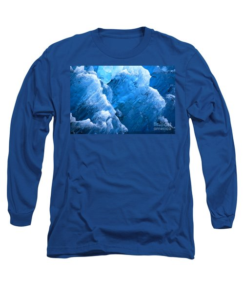 Iceberg Blues Long Sleeve T-Shirt by Cynthia Lagoudakis