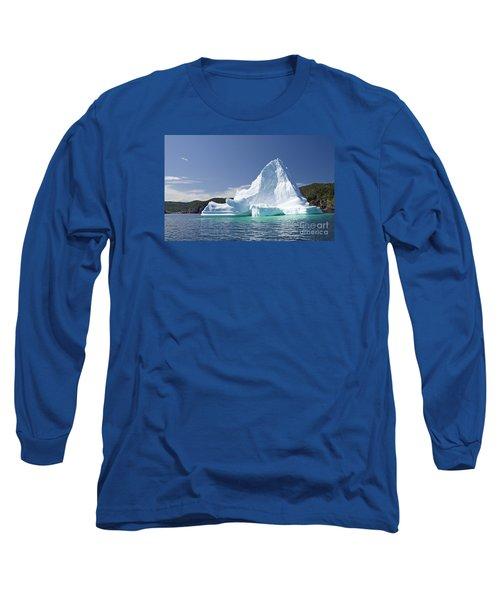 Long Sleeve T-Shirt featuring the photograph Iceberg Newfoundland Canada by Liz Leyden