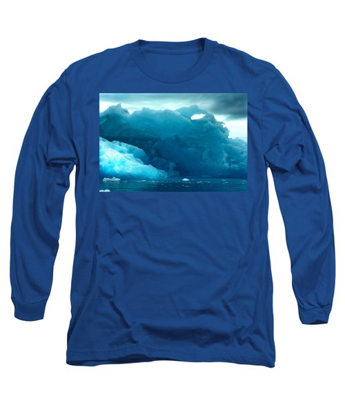 Long Sleeve T-Shirt featuring the photograph Icebergs by Amanda Stadther
