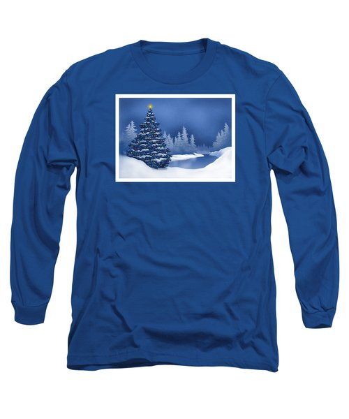 Icy Blue Long Sleeve T-Shirt by Scott Ross